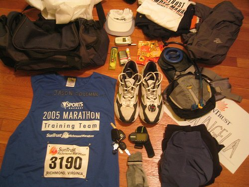 marathon check list