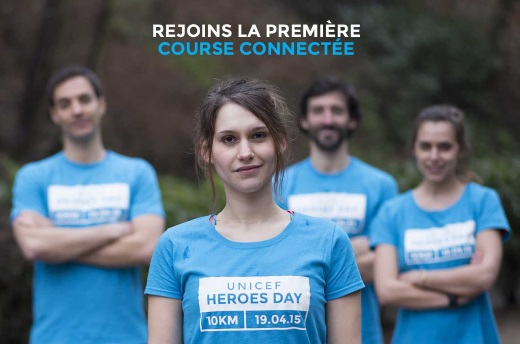Running heroes course connectée