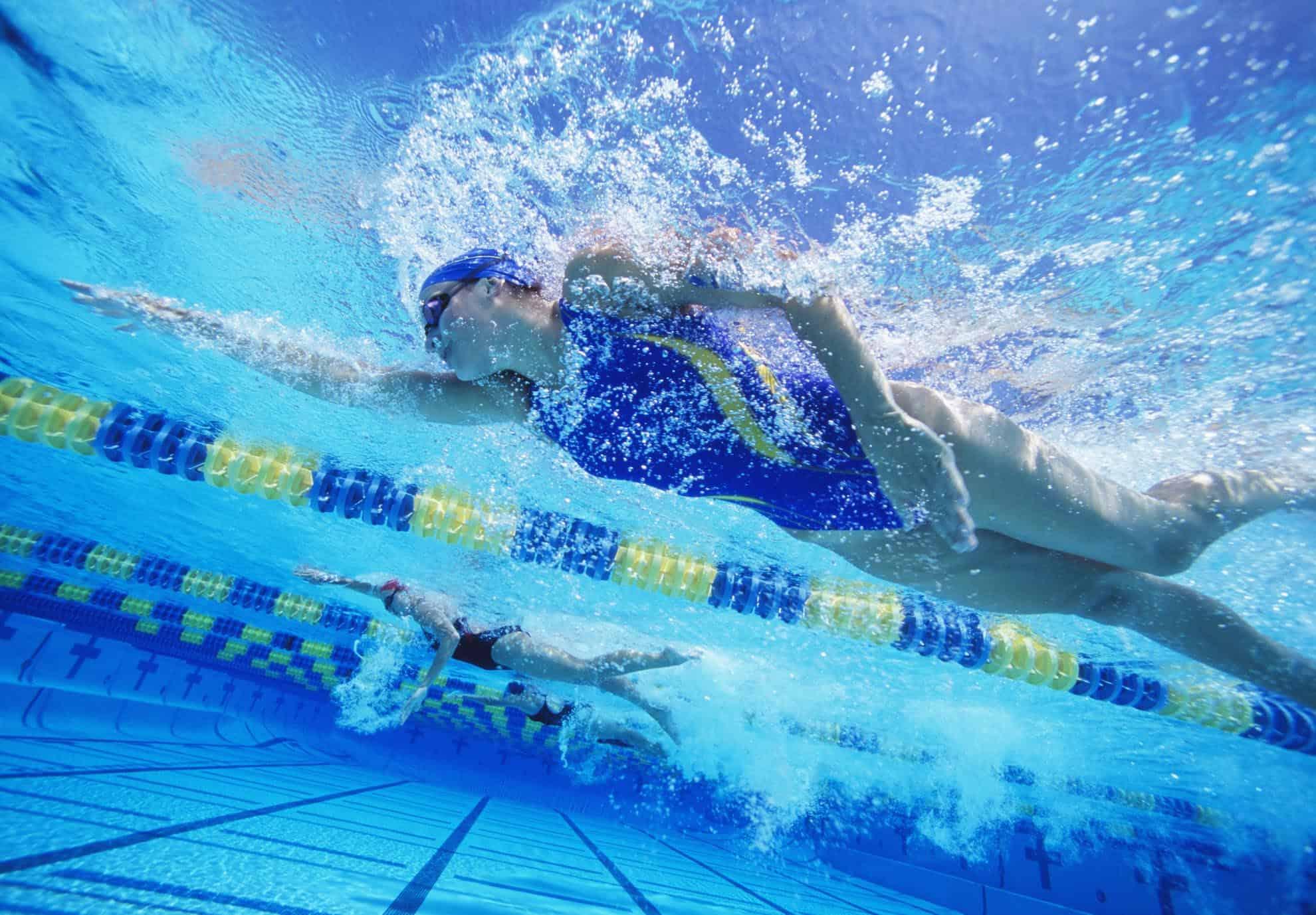 course a pied ou natation